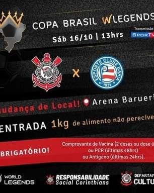 Em Barueri, Corinthians conta com apoio da Fiel para avançar na Copa Brasil WLegends