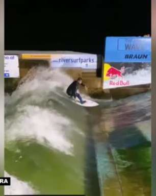 SURFE: Congelando! Ítalo Ferreira pega onda em rio com temperatura de 8° graus e leva caldo após manobra