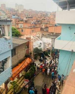 Sobrado desaba em Paraisópolis e deixa um morto e quatro feridos