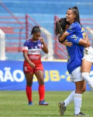 Equipe feminina do Cruzeiro cumpre compromisso, faz 9 a 0 no Funorte e aguarda posição da diretoria