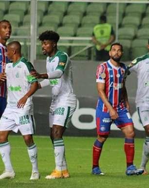 Pouco inspirados, América-MG e Bahia empatam sem gols em BH