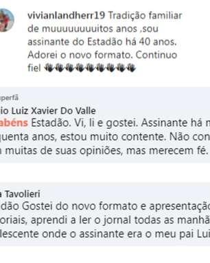 Leitores do 'Estadão' celebram nova versão do jornal impresso nas redes sociais; veja