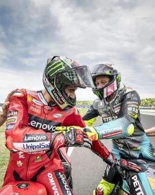 """Bagnaia vê Rossi como grande incentivador: """"me motiva a ser sempre o melhor"""""""