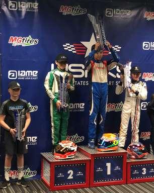 Kart: campeão do USPKS de 2021, Enzo Vidmontiene conquista pódios na etapa final