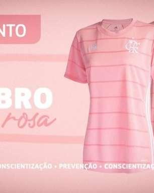 Flamengo lança nova camisa alusiva ao Outubro Rosa e anuncia doação