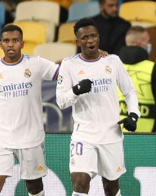 Com golaço de Vinicius Jr, Real Madrid goleia o Shakhtar
