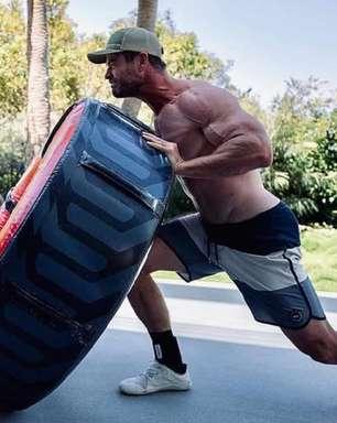 Chris Hemsworth exibe físico invejável em post do Instagram