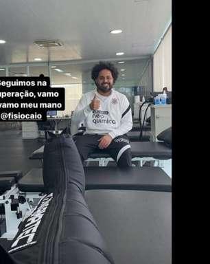Uma semana depois da lesão, Willian compartilha tratamento no Corinthians: 'Vamos que vamos'