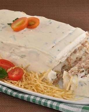 Bolo salgado de atum e cream cheese rápido