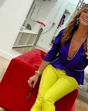 Giovanna Antonelli veste color blocking para nova novela