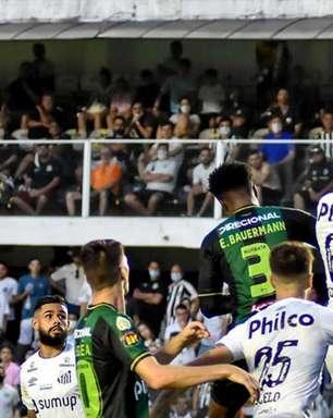 Santos perde em casa para o América-MG e vê Z-4 mais próximo