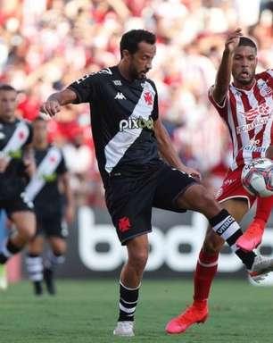 Vasco terá desfalque importante e dois retornos contra o CSA, pela 32ª rodada da Série B do Brasileirão