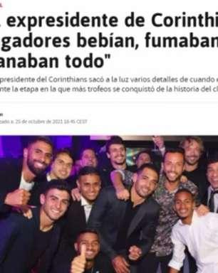 Jornal europeu se confunde e usa foto de elenco do São Paulo para falar sobre polêmica do Corinthians