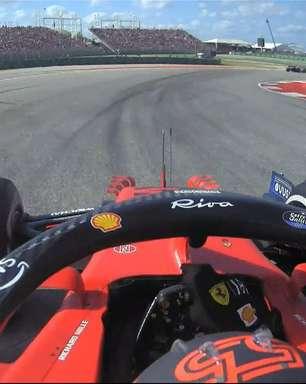 """Ricciardo debocha de crítica de Sainz no GP dos EUA: """"Tudo bem ser sujo às vezes"""""""