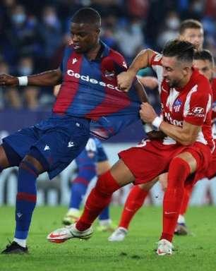 Com pênalti polêmico no fim, Levante alcança empate, e Atlético de Madrid se afasta da liderança de La Liga