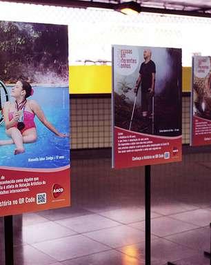 Inclusão é tema de mostra lançada pela AACD no metrô de São Paulo