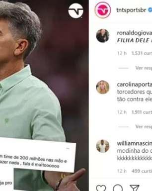 Filha de Renato critica torcida do Flamengo após eliminação na Copa do Brasil