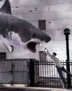 Trailer de filme bizarro sobre 'tornado de tubarões' faz sucesso