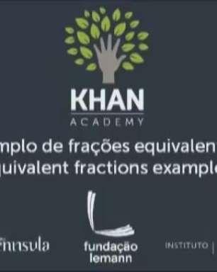 Exemplo de frações equivalentes
