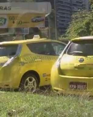 Carros elétricos já formam frota de táxis em SP e RJ