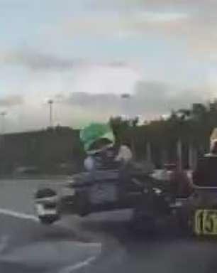 Nova geração da família Montoya provoca acidente em Kart