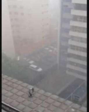 Leitor filma forte chuva que atinge São Paulo nesta quarta-feira