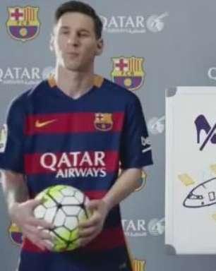 Craques do Barça brilham em comercial de companhia aérea