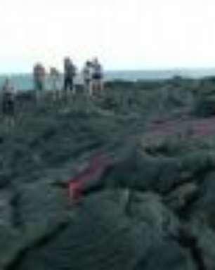 Vulcão havaiano atrai turistas com duas cavidades em erupção ao mesmo tempo