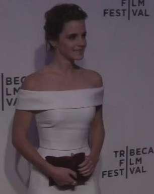 """Emma Watson e Tom Hanks apresentam """"O Círculo"""" em NY"""