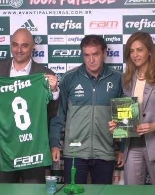 Cuca retorna ao Palmeiras e não promete título em sua apresentação