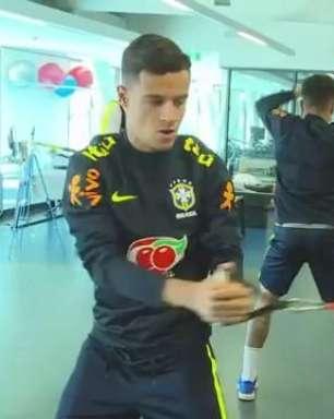 Jogadores da Seleção Brasileira se apresentam na Austrália
