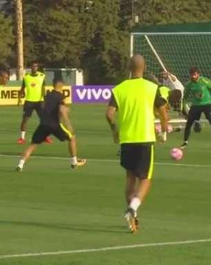 Seleção Brasileira faz treinamento no CT do Palmeiras