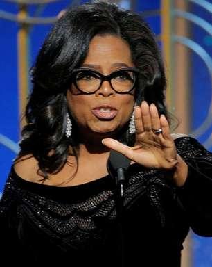 Oprah faz forte e emocionante discurso no Globo de Ouro
