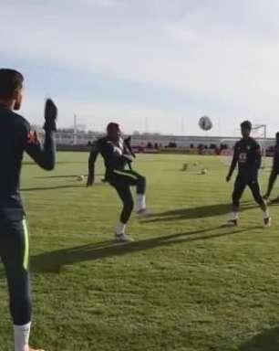 Grupo da Seleção é dividido entre campo e academia na Rússia