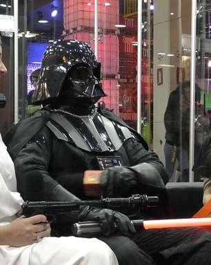 Darth Vader e Princesa Leia invadem estúdio do Terra na BGS