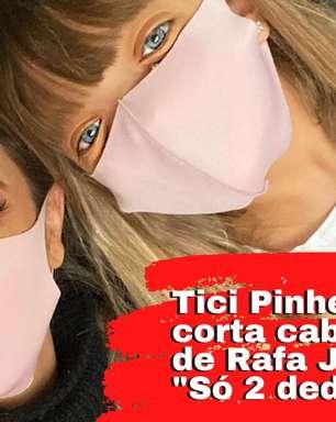 Tici Pinheiro ataca de cabeleireira e corta o cabelo de Rafa