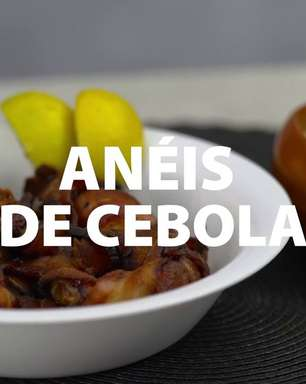 Anéis de Cebola com Bacon