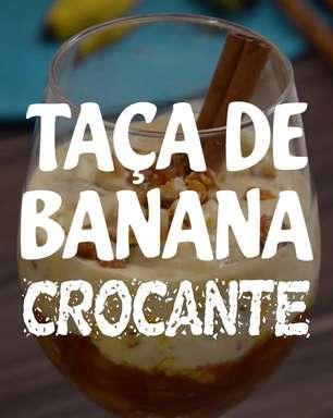 Taça de banana crocante