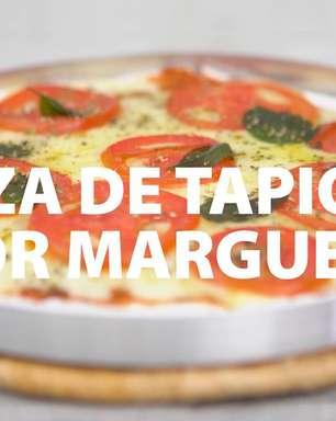 Pizza de tapioca sabor marguerita