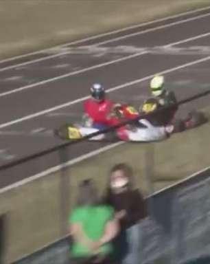 Impressionante: Piloto é ejetado após forte batida no Metropolitano de Kart