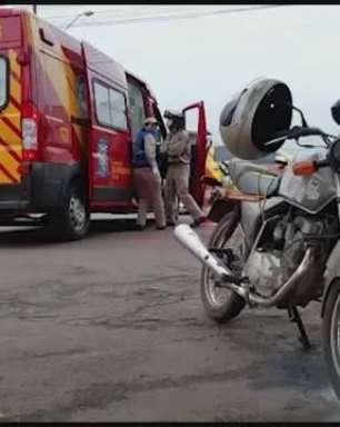 Motociclista fica ferido em acidente de trânsito no Bairro Maria Luíza
