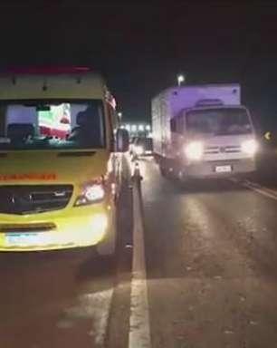 Idoso fica gravemente ferido ao ser atropelado na BR 277