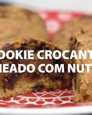 Cookie crocante recheado com Nutella®