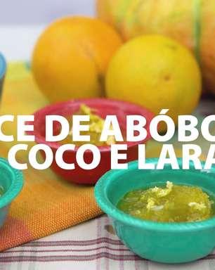 Doce de abóbora com coco e laranja