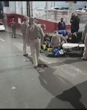 Carro e moto se envolvem em acidente no Bairro Ciro Nardi