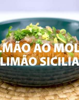 Salmão ao molho de limão siciliano