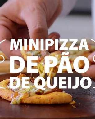 Minipizza de pão de queijo