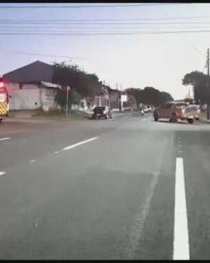 Motociclista fica ferido em acidente de trânsito no Bairro Parque São Paulo