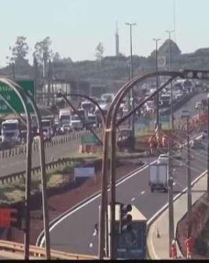 Primeiro dia de mudanças no Trevo Cataratas causa congestionamentos no trânsito