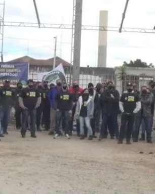 Policiais penais realizam manifestação para pedir melhorias para a classe